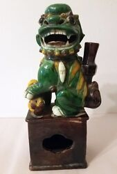 Early Antique Pottery Foo Dog -- Great Example Of An Original
