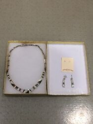 Calvin Begay Navajo Sterling Necklace And Earrings Set