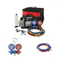 XtremepowerUS Vacuum Pumps 3CFM 4CFM Air HVAC AC Refrigeration Kit Manifold Set
