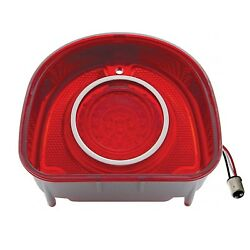 68 Chevy Bel Air And Biscayne Red Led Tail Brake Turn Signal Light Lens Trim Each