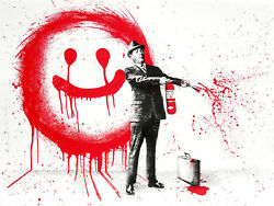 Spray Happiness Red By Mr. Brainwash - Hand Finished, Signed, Sold Out