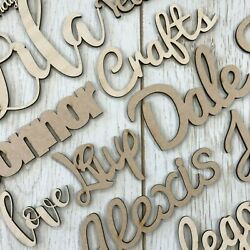 Personalised Wooden Script Name Letters Words Plaque Sign Any Font Mdf