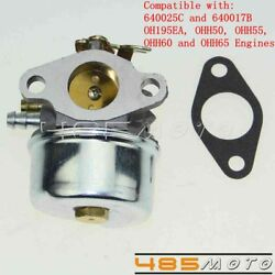 Replacement Carburetor Carb For Tecumseh Oh195ea Ohh50 Ohh55 Ohh60 Ohh65 Engines