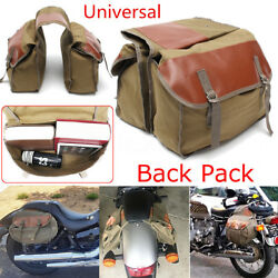 Durable Army Green Motorcycle Bag Saddle Bag Travel Knight Rider Rear Tail Bags $32.21