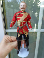 Antique Doll With Closed Mouth And Original Clothes