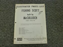 1963 Mcculloch Fishing Scott 63300711 Outboard Motor 7.5 Hp Parts Catalog Manual