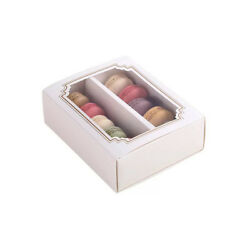 Cute White Boxes w Window for Macaron Cookie Chocolate Party Gift 6 cts $11.99