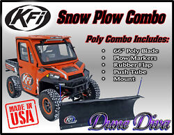 Kfi 66 Poly Snow Plow Blade Mount Combo Kit Can-am Defender Hd5 Hd8 Hd10 16-18