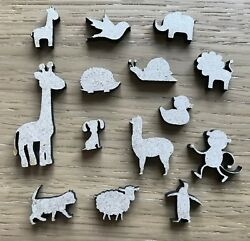 Animal Wooden Craft Shapes - Farm Zoo Pets - Mdf - Various Sizes And Quantities