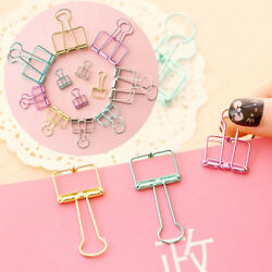 Multisize Colorful Hollow Metal Binder Classic Office Clip File Paper Stationery