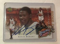 Kevin Durant Autographed Rookie Card Upper Deck Heroes (2007) #1 of 5