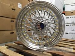 New Set Of 4 17 Classic Rs Style Silver Lip Wheels Rims 5x100 5x112 35 Offset