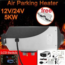 5KW 12V Car Auto Truck Diesel Air Heater Tank Vent Duct LCD Switch+Silencer ER