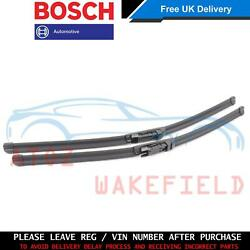 FOR BMW 5 SERIES M5 E60 E61 FRONT BOSCH WINDSCREEN WIPER BLADE SET 61610431438
