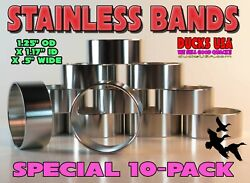 Duck Call Band Polished Stainless 1.25 Od X 1.17 Id X .5 Special 10-pack