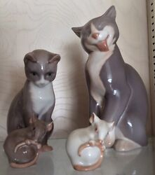 Bing &Grondahl  Figurines Cat And Mice
