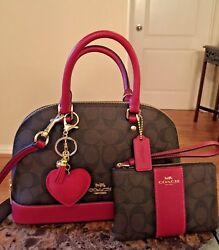 NWT Authentic Coach Mini Purse and Coach Wristlet with Purse Keychain