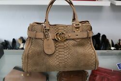 Gucci Nude Python GG Running Large Tote Bag Pre-owned