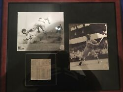 Ty Cobb and Mel Ott Signed/Autographed Stat Sheet