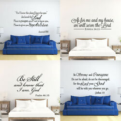 Bible Verse Wall Decals Quote Vinyl Wall Stickers Art Scripture Bedroom Decor