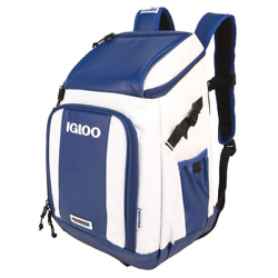 IGLOO BLUE Backpack Cooler for outdoors hiking camping fishing hunting sports