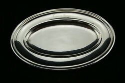 1850 Christofle Hotel Oval Tray Fish Vegetable Meat Silverplated France 10.1/2
