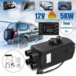 8KW 12V Car Auto Air diesel Fuel Heater 4 Holes + LCD Switch+Air Filter+Tank NS