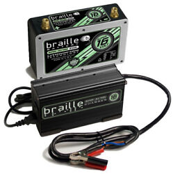 BRAILLE AUTO BATTERY 16V Lithium Super-Sixteen BatteryCharger Kit PN B168LC