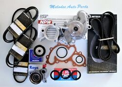 Npw Japanese Water Pump Kit W/ Serpentine Belt For Tacoma /tundra /4runner 3.4l