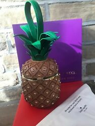 New Kate Spade by the pool 3D pineapple bag clutch wristlet