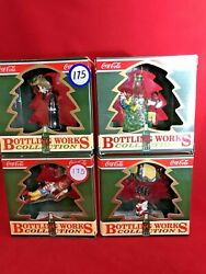 Coca Cola Bottling Works Collection Set Of 4 Ornaments New In The Box