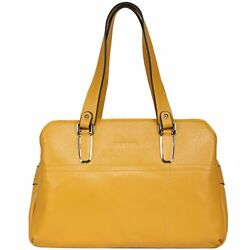 Banuce Colored Real Leather Handbags for Women Shoulder Bag Tote Double Zippered