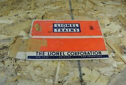 Lionel 3461 Ll Operating Log Car Box Only