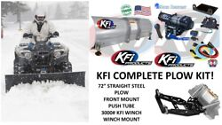 Kfi Yamaha Plow Complete Kit 72 Steel Straight Blade And03914-and03918 Viking / Viking Vi