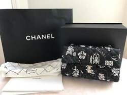 CHANEL Travel Design Chain Shoulder Bag Rare Used Mint from Japan