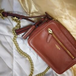 Coach legacy crossbody Caramel color leather with gold hardware. Gorgeous
