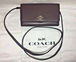 NWT Coach Phone Crossbody Bag in Smooth Leather