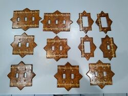Rustic Brown Wall Switch Plate Outlet Covers LOT