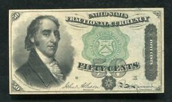Fr. 1379 50 Fifty Cents Fourth Issue Fractional Currency Note Uncirculated