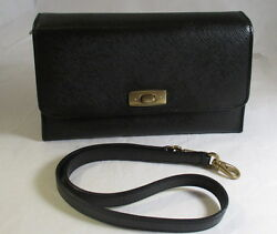 COACH Vintage Gramercy Collection Navy Blue Convertible Clutch Bag - EVC
