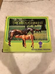 Breyer Horse #3155 Thoroughbred Mare & Foal Nursing BOXED VG