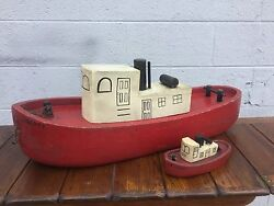 Vintage 1930-40's Liberty Tug Boat Tots Toys Store Display And Toy Cleveland