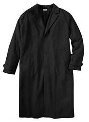 Nwt Men Plus Size Big And Tall Wool-blend Long Overcoat 2xl-7xl Msrp 209.99