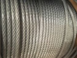5/16-3/8 Vinyl Coated Galvanized Aircraft Cable Steel Wire Rope 7x19 3000 Feet