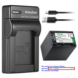 Kastar Battery Slim Charger For Sony Np-fv100 Sony Hdr-xr155 Hdr-xr160 Hdr-xr260