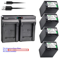 Kastar Battery Dual Charger For Sony Np-fv100 Sony Hdr-xr155 Hdr-xr160 Hdr-xr260