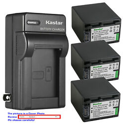 Kastar Battery Wall Charger For Sony Np-fv100 Sony Hdr-xr155 Hdr-xr160 Hdr-xr260
