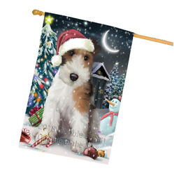 Have a Holly Jolly Wire Fox Terrier Dog Christmas  House Flag FLG51821
