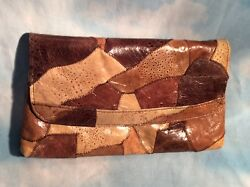 woman's pvc Leather Brown wallet fashion fine stitched