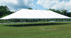 SEI INDUSTRIES MILITARY GRADE TENT 53ft x 57ft  UV protected Fabric.